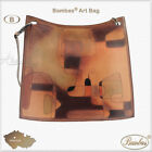 SAMPLE Designer Bambas Art Hand Painted Engraved Leather Bag Clutch or Tote