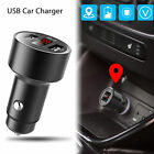 Car Charger SPY GPS Tracker Locator Real Time Tracking Dual USB LCD Voltmeter $7.73 USD on eBay