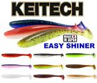 "KEITECH EASY SHINER Scent Soft Lures 2"" 12Pcs  3""  Fishing Paddle Tail Shad Jig"