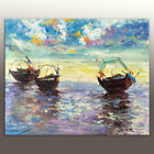 Hand Painted Canvas Oil Painting Wall Art Home Decor Sailing Boat 935