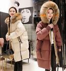 Women's Winter Down Cotton Casual Jacket Coat Thicken Parka  Fur Collar Hooded#+