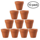 OUNONA 10Pcs 4.5x4cm Succulent Small Terracotta Pot Plant Pots for Wedding Favor