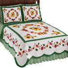 Elegant Fall Sunflowers Quilt With Leaf Garlands, by Collections Etc image