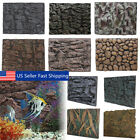 1/2Pcs 3D Foam PU Rock Reptile Aquarium Fish Tank Background Backdrop Plate Deco
