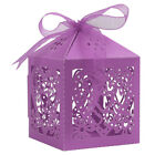25/50/100Pcs Hollow Love Heart Favor Ribbon Gift Box Candy Boxes Wedding Party