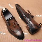 Men Business Dress Formal Wing Tip shoes Brogue Carving Tassels Fashion Ch9