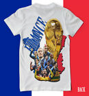 FRANCE 2018 World Cup Champions 2 SIDE SHIRT players on back Futbol soccer WOW! image