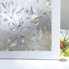 Non adhesive privacy frosted flora window film window sticker static cling