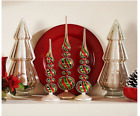 Set of 3 Whimsical Mercury Glass Finials by Valerie H208791 CHECK FOR COLOR