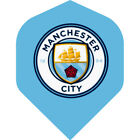 Football Dart Flights - Authentic Licensed Premiership - Manchester City - F0993