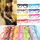 Fashion Vintage Retro Style No Lens Boys Girls Wafarer Glasses Frame Kids TOP