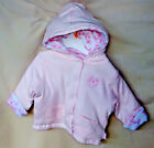 "LITTLE ME 100 COTTON Light Pink ""MELODY ROSE"" REVERSIBLE HOODIE JACKET GIRL NWT"