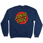 Santa Cruz Tagged Dot Crew Neck L/S Sweatshirt Navy Heather