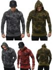 Hoodies for Men Pullovers Sweatshirts Plain Camouflage Colors 507