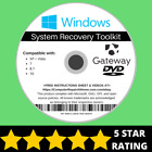 Gateway Windows 10 8 8.1 7 Vista XP Recovery Repair Disc USB Reinstall Software