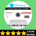 Compaq Windows 10 8 8.1 7 Vista XP Recovery Repair Disc USB Reinstall Software
