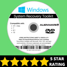 Alienware Windows 10 8 8.1 7 Vista XP Recovery Repair Disc USB Reinstall OS