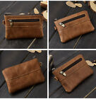 Slim Wallet Credit Card Holder Coin Bag Genuine Leather mini Money Purse Zipper