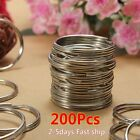 Kyпить 200PCS Key Rings Chains Split Ring Hoop Metal Loop Steel Accessories 25mm US на еВаy.соm