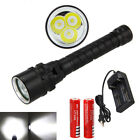 Внешний вид - Underwater 100m 30000LM XM-L2 3 LED Scuba Diving Flashlight Torch 18650 Charger