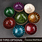 Colourful Eco-friendly Natural Coconut Shell Bowl Dishes Handicraft Art Work