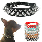 PU Leather Spiked Studded Rivet Dog Collar for Puppy Small Dogs Chihuahua Collar