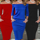 Fashion Women Long Sleeve Bodycon Casual Party Evening Cocktail Mini Club Dress