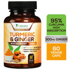 Turmeric Curcumin with Ginger and BioPerine 1950mg Triple Strength Capsules