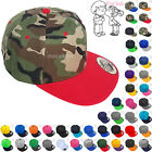 Snapback Hat Kids Solid Blank Boys Girls Toddler Visor Flat Brim Baseball Cap