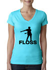 Victory Royale Floss Dance Womens Junior Fit V-Neck Tee Video Game Humor T-Shirt $14.99 USD on eBay