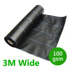 Panana 3m Wide 100gsm Weed Control Ground Cover Membrane Landscape Mulch Garden