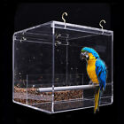 No-Mess Bird Feeder Parrot Integrated Clear Feeder for Small to Large Birds