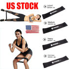 US Workout Resistance Bands Loop Set CrossFit Fitness Yoga Booty Exercise Band image