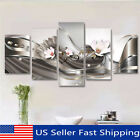 5Pcs Large Framed Abstract Flower Canvas Print Art Painting Wall Picture Decor