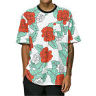 Primitive Men's Floral Crew T Shirt White Tee T-Shirts Clothing Apparel