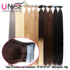 skin weft hair extensions - 20Pcs Tape In Skin Weft Human Hair Extensions Indian Straight Remy Hair US Stock