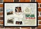 Framed The Italian Job Movie Film Poster A4 / A3 Size In Black / White Frame