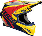 Thor Motocross Enduro Helm Richochet Navy Yellow Red