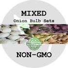 2019 MIXED ONION BULB SETS - Red White & Yellow - NON-GMO Heirloom Plant Seed US