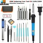 60W Electric Soldering Iron Welding Tool Kit Solder with PU Carry Bag 110V/220V