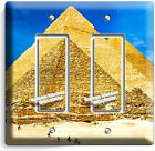 EGYPTIAN GREAT PYRAMIDS OF GIZA LIGHT SWITCH OUTLET WALL PLATE ROOM ART HD DECOR