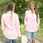 US STOCK Women Casual Loose Long Sleeve Sweater V-neck Knitwear Pullover Jumper