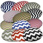 Flat Round Shape Cover*Zig Zag Cotton Canvas Floor Seat Chair Cushion Case*Ae