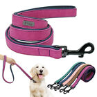 Soft Velvet Leather Padded Dog Lead 4ft Small Medium Large Dogs Walking Leash