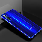 For Huawei Honor 20 10 9 8 Lite 7A Plating Soft Silicone Hybrid Clear Case Cover