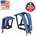 Adults Manual Life Jacket Vest Inflatable Aid Sailing Kayak Canoeing Fishing A