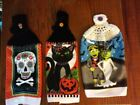 HALLOWEEN THEMED HANGING KITCHEN TOWELS - HAND CROCHET - NEW