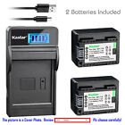 BP-718 CG-700 Battery or LCD Slim Charger for Canon VIXIA HF R50 R52 M500 R30