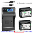 BP-718 CG-700 Battery or LCD Slim Charger for Canon VIXIA HF R800 M50 M52 M500