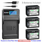 BP-718 CG-700 Battery or LCD Slim Charger for Canon LEGRIA HF M52 M56 M506 M38